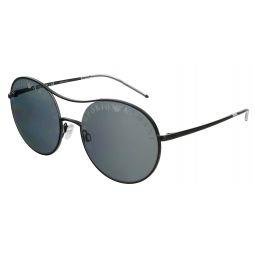 Emporio Armani Matte Black Round 0EA2081 30016G Sunglasses