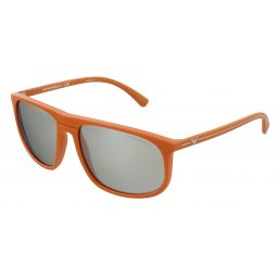 Emporio Armani Orange Rubber Rectangle 0EA4118 56916G Sunglasses