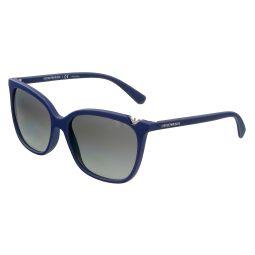Emporio Armani Dark Blue Used Effect Square 0EA4094 560211 Sunglasses