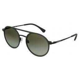 Emporio Armani Matte Green/Matte Black Square 0EA2080 32308E Sunglasses