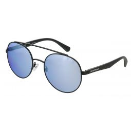 Emporio Armani Matte Black Aviator 0EA2051 30011U Sunglasses