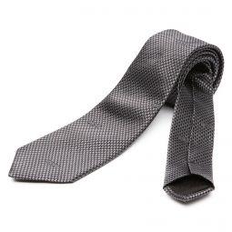 Moschino Neat Geometric Dark Grey Silk Tie