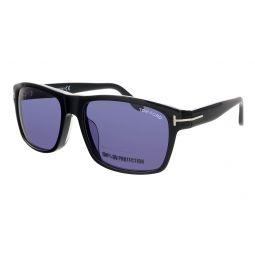 Tom Ford Shiny Black Square Sunglasses