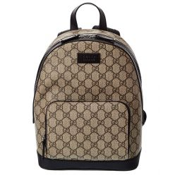 Gucci Eden Small Gg Supreme Canvas & Leather Backpack