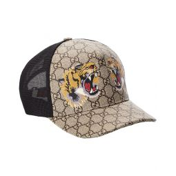 Gucci Tigers Print Gg Supreme Canvas Baseball Hat