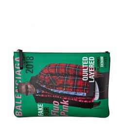 Balenciaga Campaign Leather Pouch