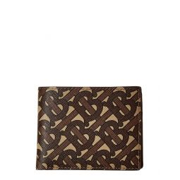 Burberry Monogram E-Canvas & Leather Bifold Wallet