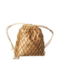 Prada Satin & Leather Mesh Bag