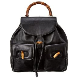 Pre-Owned Gucci Black Leather Large Backpack
