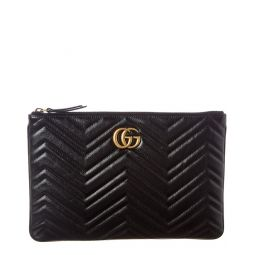 Gucci Gg Marmont Matelasse Leather Pouch