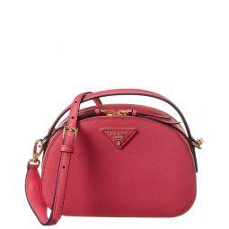 Prada Odette Saffiano Leather Shoulder Bag