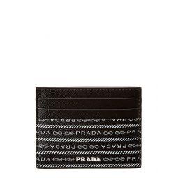 Prada Logo Saffiano Leather Card Holder
