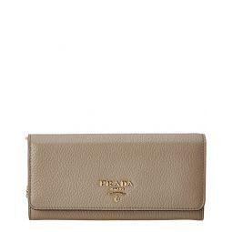 Prada Leather Continental Wallet