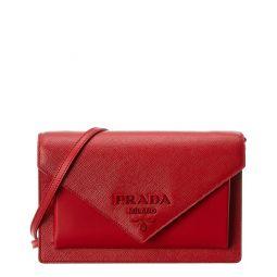 Prada Envelope Mini Saffiano Leather Crossbody