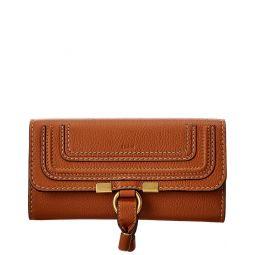 Chloe Marcie Long Leather Flap Wallet