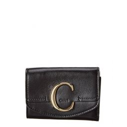 Chloe C Small Leather Card Case