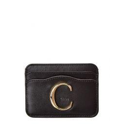 Chloe Signature Leather Card Holder
