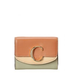 Chloe C Small Leather Trifold Wallet