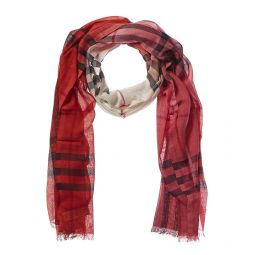 Burberry Ombre Check Wool & Silk-Blend Scarf