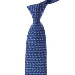 Salvatore Ferragamo Blue Cars Silk Tie