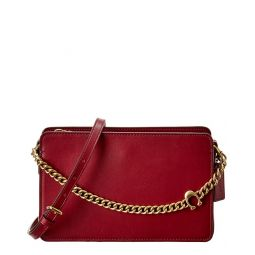 Coach Signature Chain Leather Crossbody