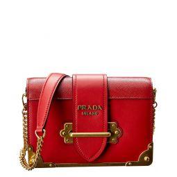 Prada Cahier Chain Leather Shoulder Bag