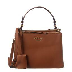 Prada Deux Small Leather Shoulder Bag