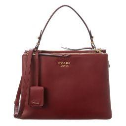 Prada Deux Large Leather Shoulder Bag