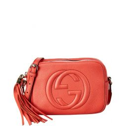 Pre-Owned Gucci Red Leather Disco Soho Bag