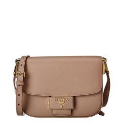 Prada Embleme Saffiano Leather Shoulder Bag