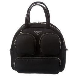 Prada Cargo Top Handle Nylon Shoulder Bag