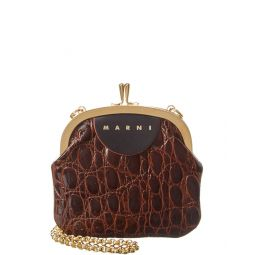 Marni Embossed Leather Pouch