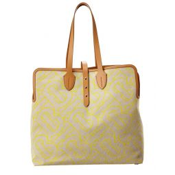Burberry Large Canvas & Leather Tote