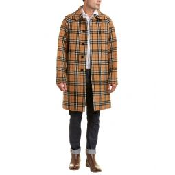 Burberry Vintage Check Alpaca & Wool-Blend Car Coat