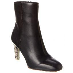 Reiss Sophia Leather Bootie