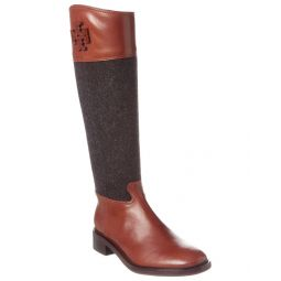 Tory Burch Lowell 2 Leather Riding Boot