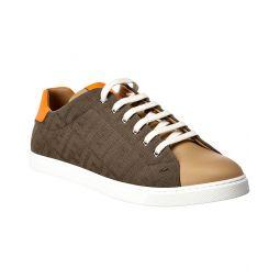 Fendi Leather & Canvas Sneaker