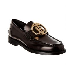 Burberry Monogram Leather Loafer