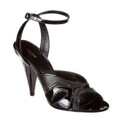 Celine Triangle Heel Patent Sandal