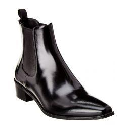 Prada Leather Pointy-Toe Boot