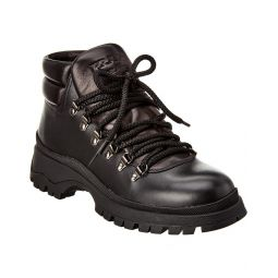 Prada Lace-Up Leather Trekking Boot