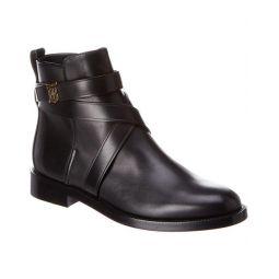 Burberry Monogram Motif Leather Bootie