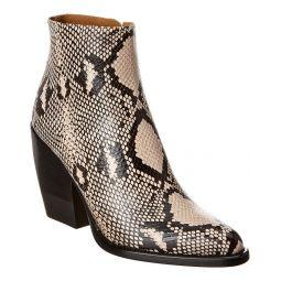 Chloe Rylee Python-Embossed Leather Bootie