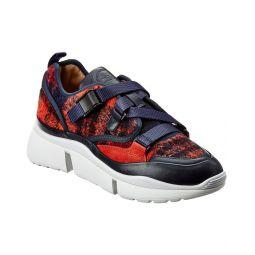 Chloe Sonnie Suede & Mesh Low-Top Sneaker