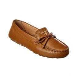 Prada Logo Plaque Saffiano Leather Loafer