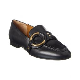 Chloe Demi Buckle Leather Loafer