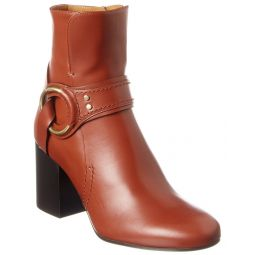 Chloe Demi Ring Leather Bootie