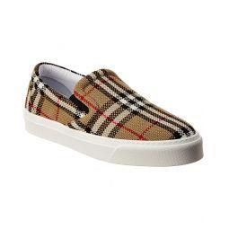 Burberry Icon Stripe Canvas Slip-On Sneaker