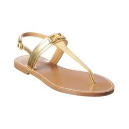 Celine Triomphe Metallic Leather Sandal