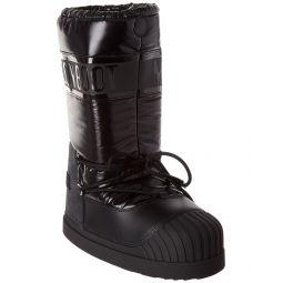 Moncler Venus Leather-Trim Moon Boot